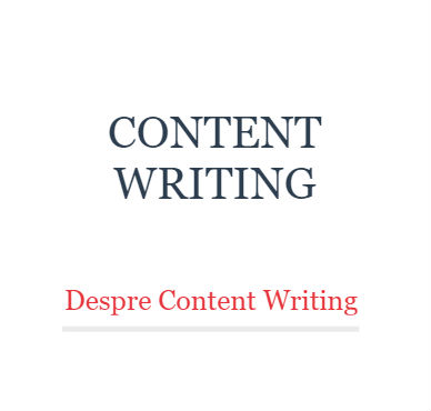 curs content writing